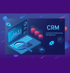 Customer relationship management crm concept crm vector