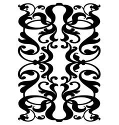 Damask block pattern vector