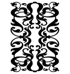 Damask block pattern vector