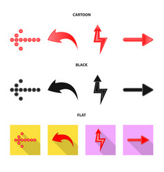 design of element and arrow sign set of vector image
