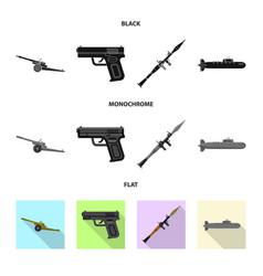 Design weapon and gun symbol set vector