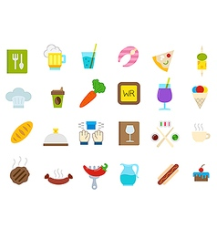 Diner isolated icons set vector