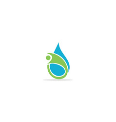 Droplet abstract people logo vector