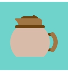 flat icon on background coffee dishware kettle vector image