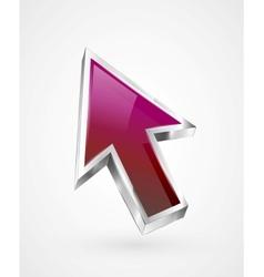 Flying arrow icon vector