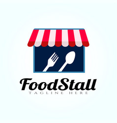 Food stall logo design place icon element vector