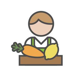 fruiterer avatar icon on white background vector image