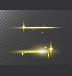 glowing lights effect stars effect glow vector image