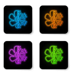 glowing neon air conditioner icon isolated on vector image