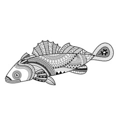 gofish for coloring book vector image