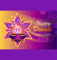 Happy diwali lights festival vector