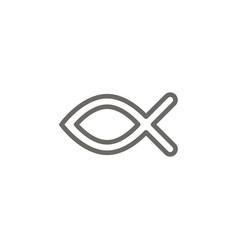 ichthys symbol icon spiritual concept vector image
