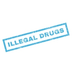 Illegal drugs rubber stamp vector