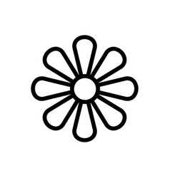 Inflorescence chrysanthemum icon vector