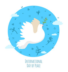 International day peace the earth with dove vector