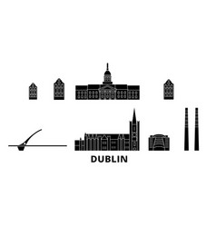 Irland dublin flat travel skyline set irland vector