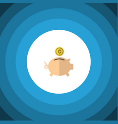 Isolated piggy bank flat icon money box vector