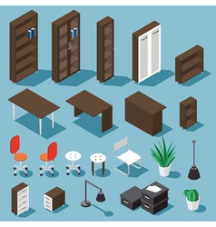 Isometric office funiture set vector