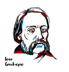 Ivan goncharov portrait vector