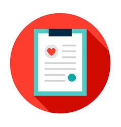 medical profile circle icon vector image