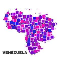 mosaic venezuela map of square elements vector image