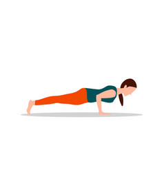 Push ups exercises and yoga vector