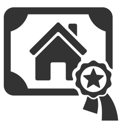 Realty Certification Flat Icon vector