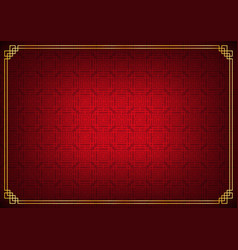 Red and black chinese square abstract background vector