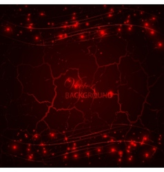 Red dark grunge background vector image