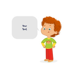 red hair boy school vector image