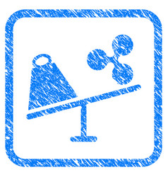 Ripple trade swing framed stamp vector