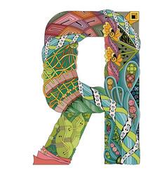 Russian cyrillic letter decorative vector