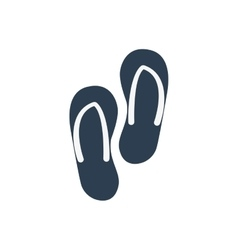 Sandals shoes summer vacation pool icon vector