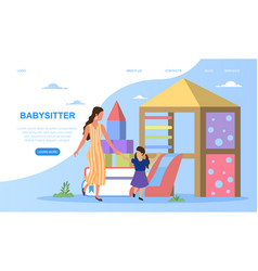 Service for babysitters vector