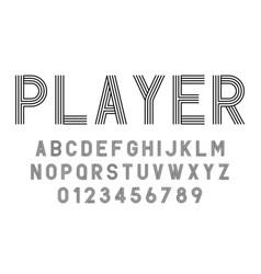 Set alphabets fonts modern abstract design vector