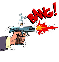 Shot from a gun comic style attack bullet attack vector