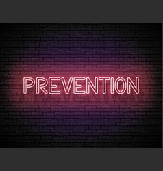 signboard with prevention inscription vector image