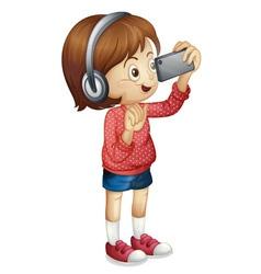 smart girl vector image