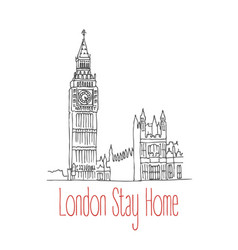Stay home poster for london vector