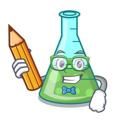 student science beaker character cartoon vector image