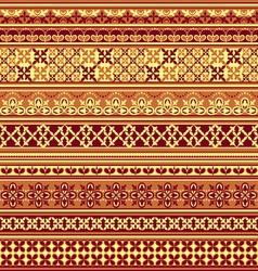 textile floral pattern vs vector image vector image
