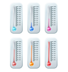 thermometer series set vector image