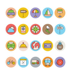 Travel colored icons 7 vector