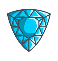 Trillion gemstone in a flat style vector