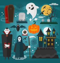 vampire castle death vector image