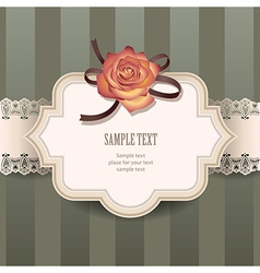 vintage rose lace vector image