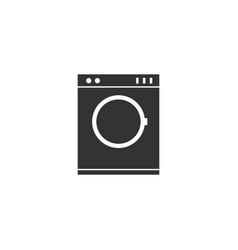 Washing machine icon flat vector