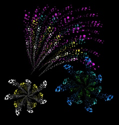 Year 2015 made of colored neon effect vector