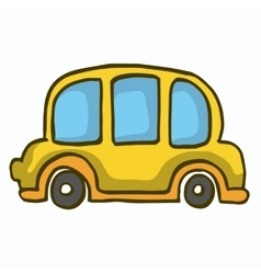 Yellow car cute vector image