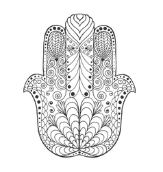 Zentangle stylized mandala vector image